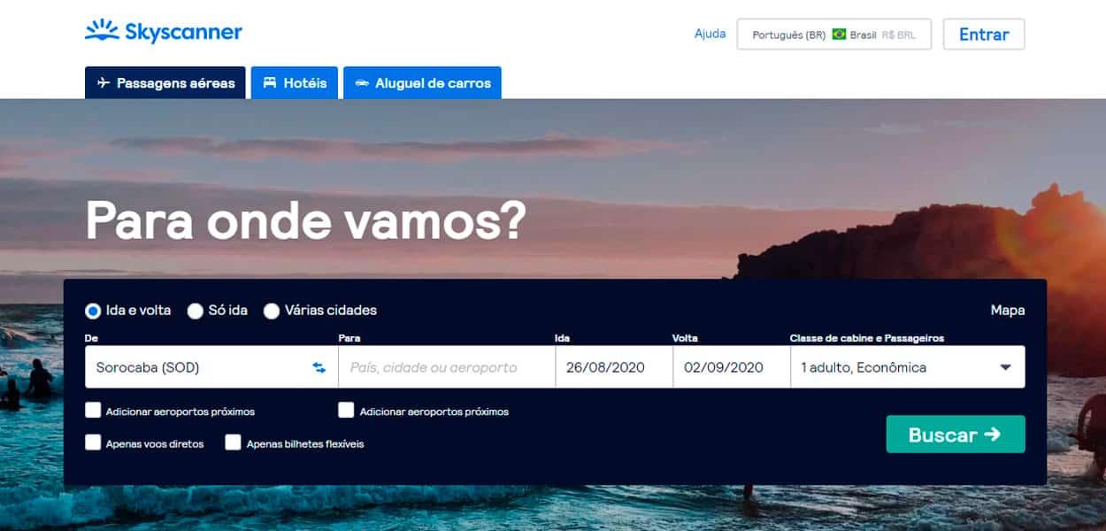 aplicativos para comprar passagem de avião