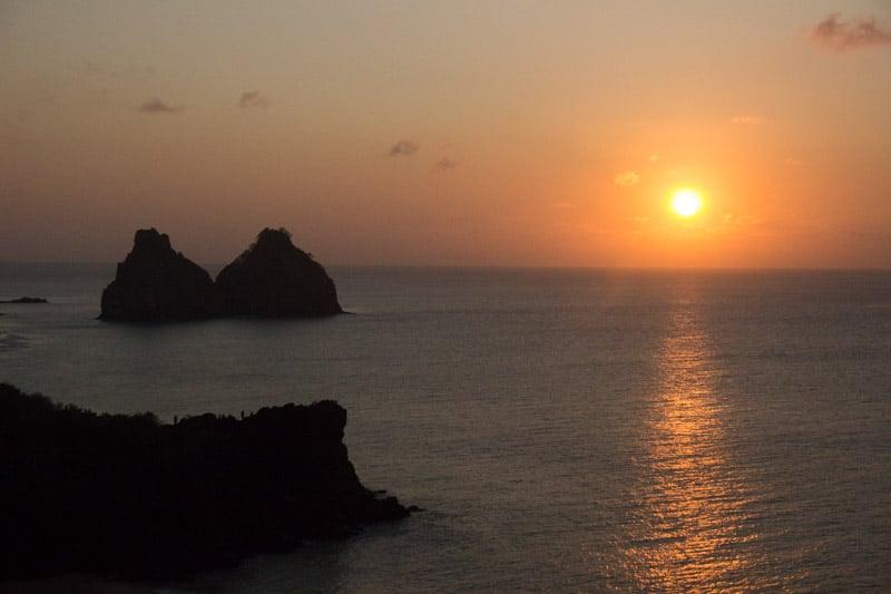 Pôr-do-sol em Fernando de Noronha
