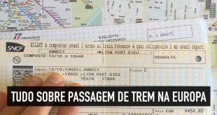Passagem de trem na Europa