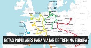 Rotas de trem na Europa