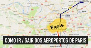 Como ir do aeroporto (CDG, Orly e Beauvais) ao centro de Paris
