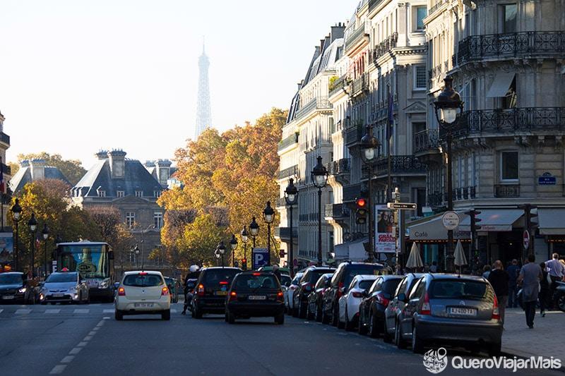 Torre Eiffel vista do Pantheon de Paris