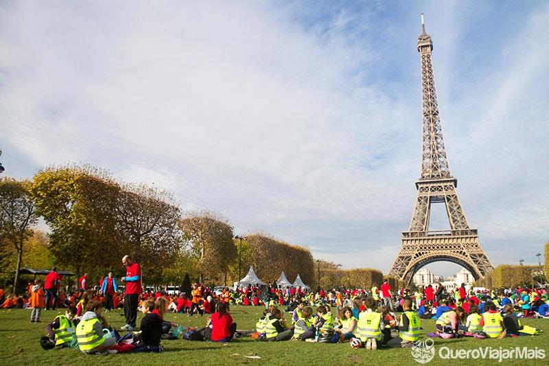 Locais para ver a Torre Eiffel