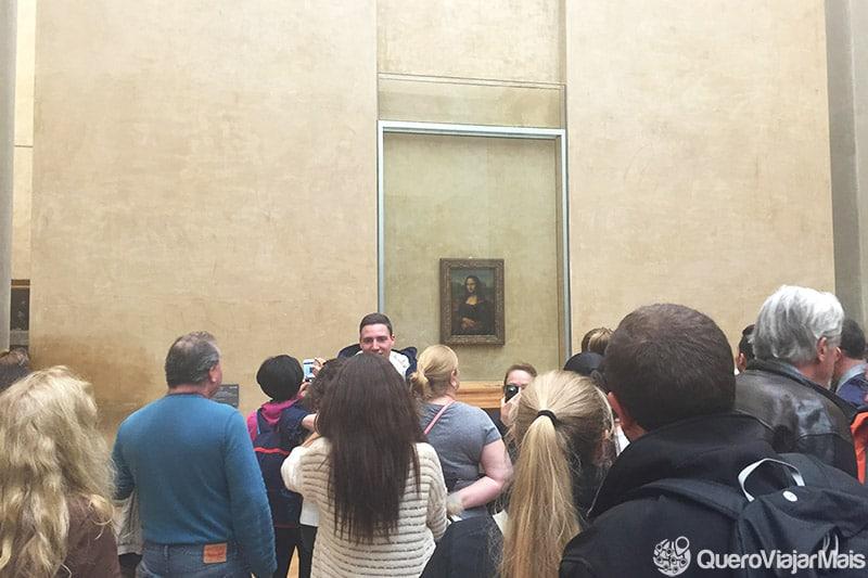 Quadro da Monalisa em Paris