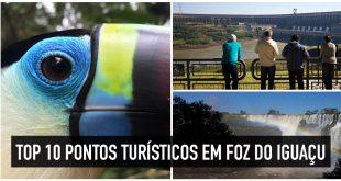 Mapa e fotos dos pontos turísticos de Foz do Iguaçu