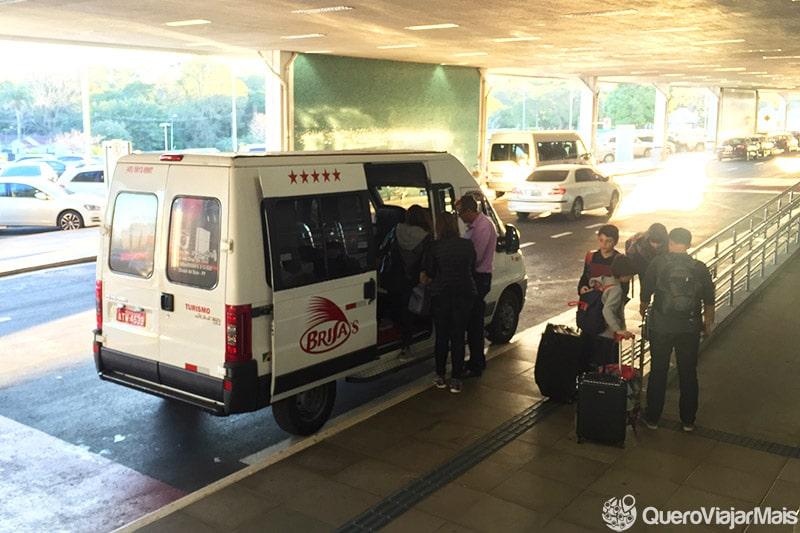 Tranfers dos hotéis ao aeroporto de Foz do Iguaçu