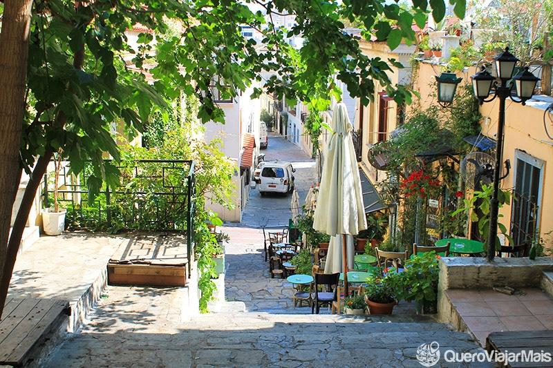 Bairros turísticos em Atenas