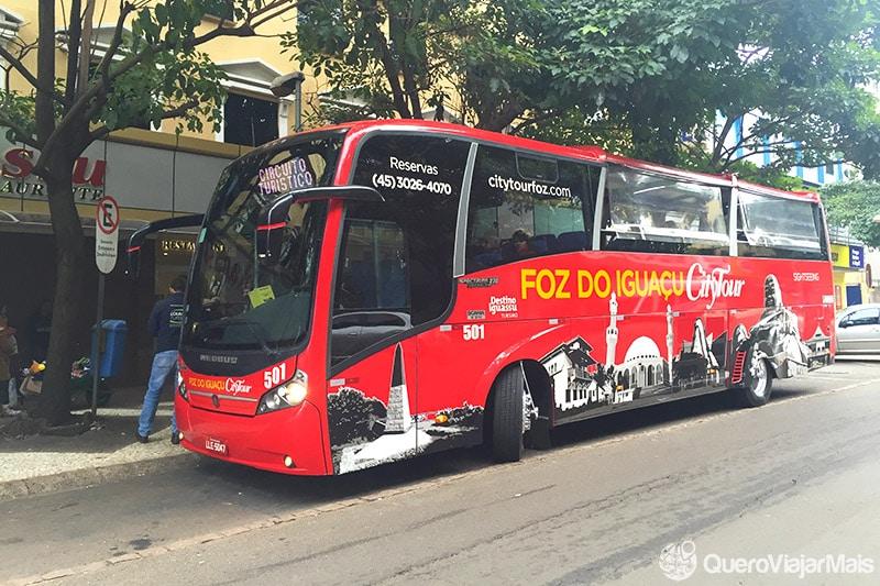 Opções de transporte em Foz do Iguaçu