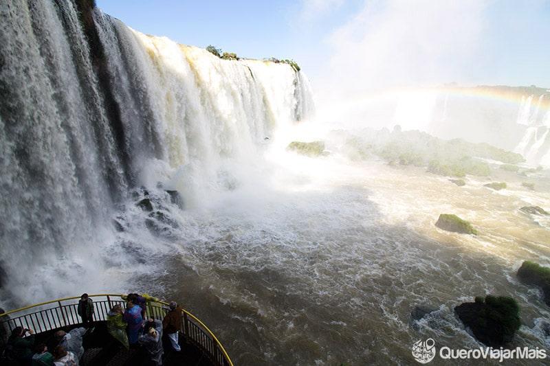 Vista privilegiada no lado brasileiro das Cataratas