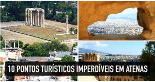 Mapa dos 10 principais e imperdíveis pontos turísticos de Atenas