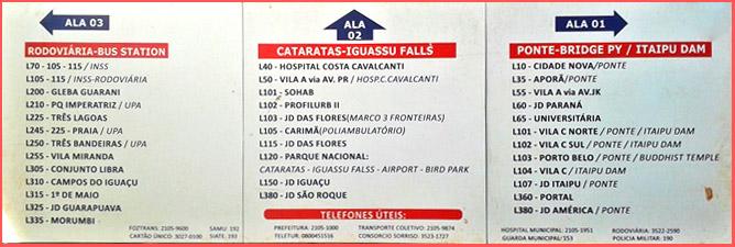 Terminal de ônibus em Foz do Iguaçu