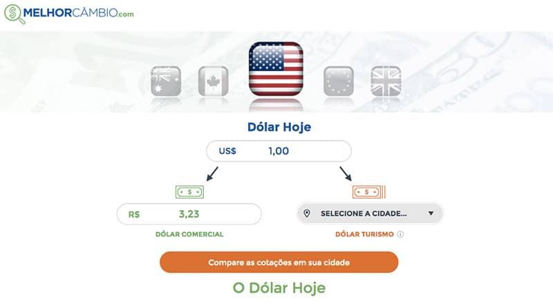 Conversos de moedas do Melhor Câmbio