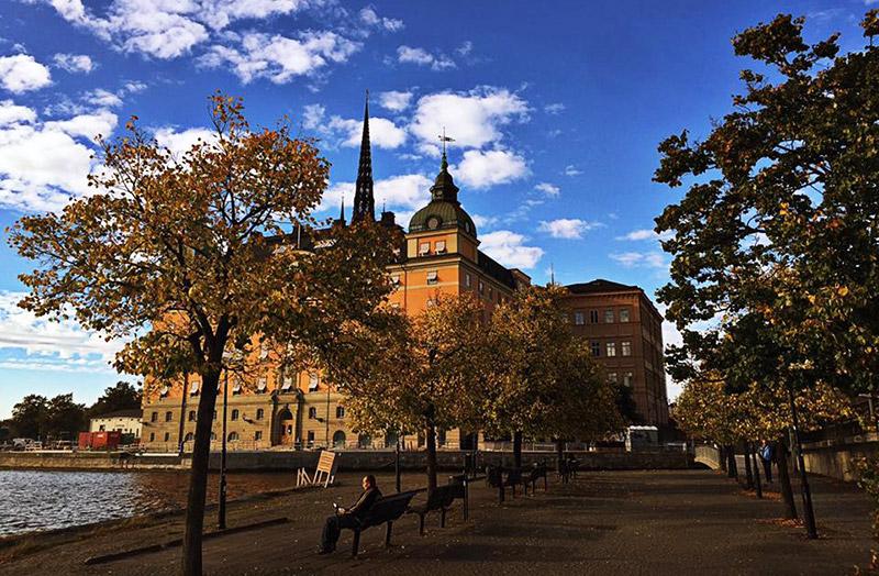 Mapa dos pontos turísticos de Estocolmo