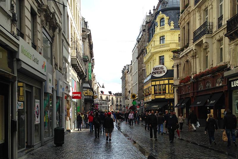 Roteiro em Bruxelas no centro