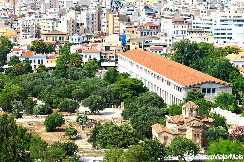 Reconstrução da Stoa de Átolo, na Ágora de Atenas.