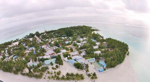 Mathiveri Island, nas Maldivas