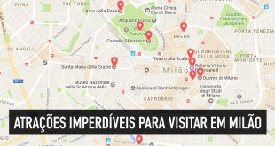Mapa e fotos dos 10 principais pontos turísticos de Milão