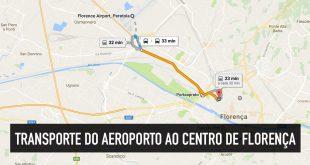 Como ir do aeroporto ao centro de Florença