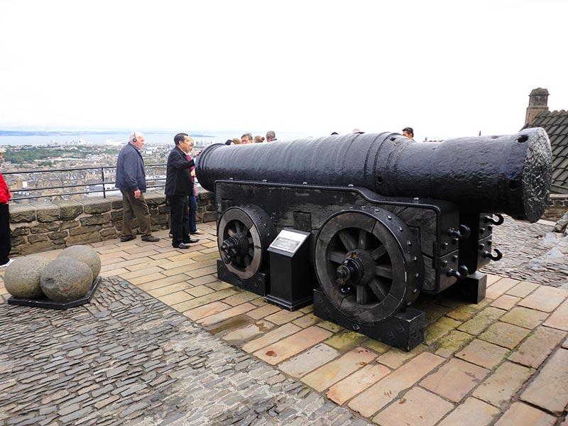 Canhões do Castelo de Edimburgo