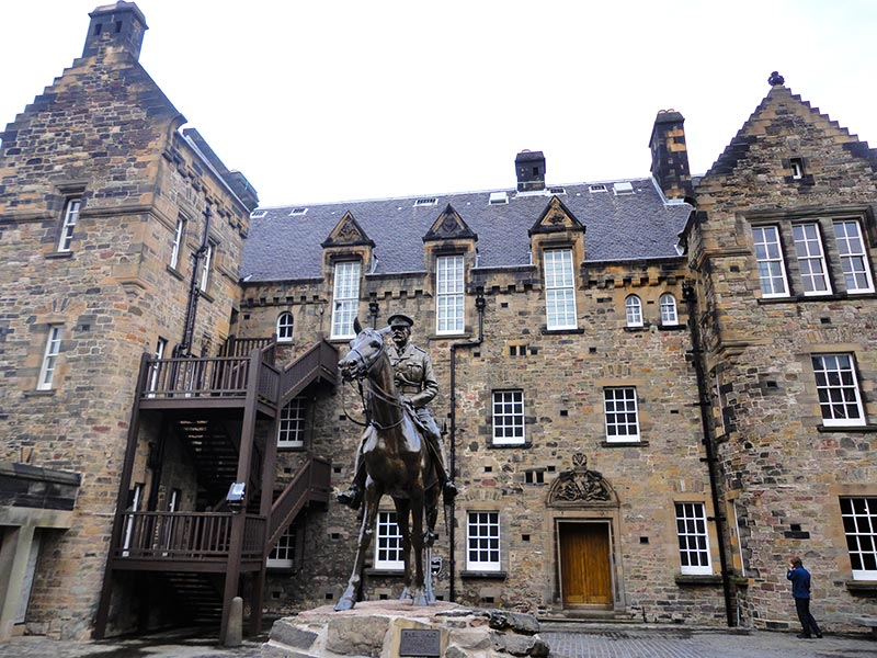 Interior do Castelo de Edimburgo
