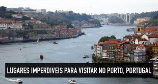 Mapa dos 10 principais pontos turísticos da cidade do Porto, Portugal