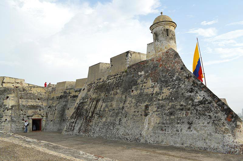 Mapa dos pontos turísticos de Cartagena