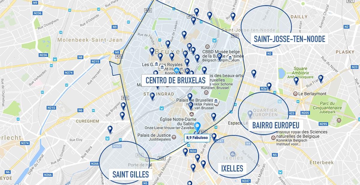 Melhores bairros de Bruxelas / Bélgica