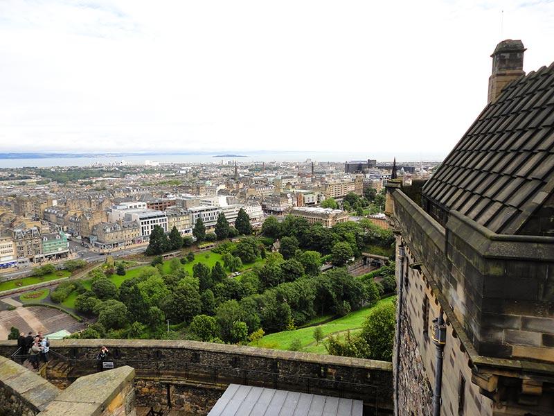 Topo do Castelo de Edimburgo