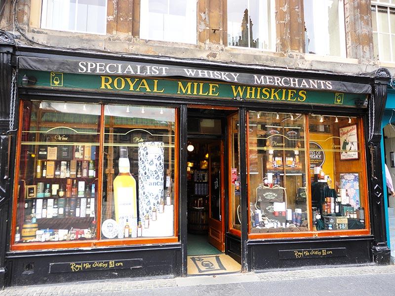 Comprar uisque em Edimburgo