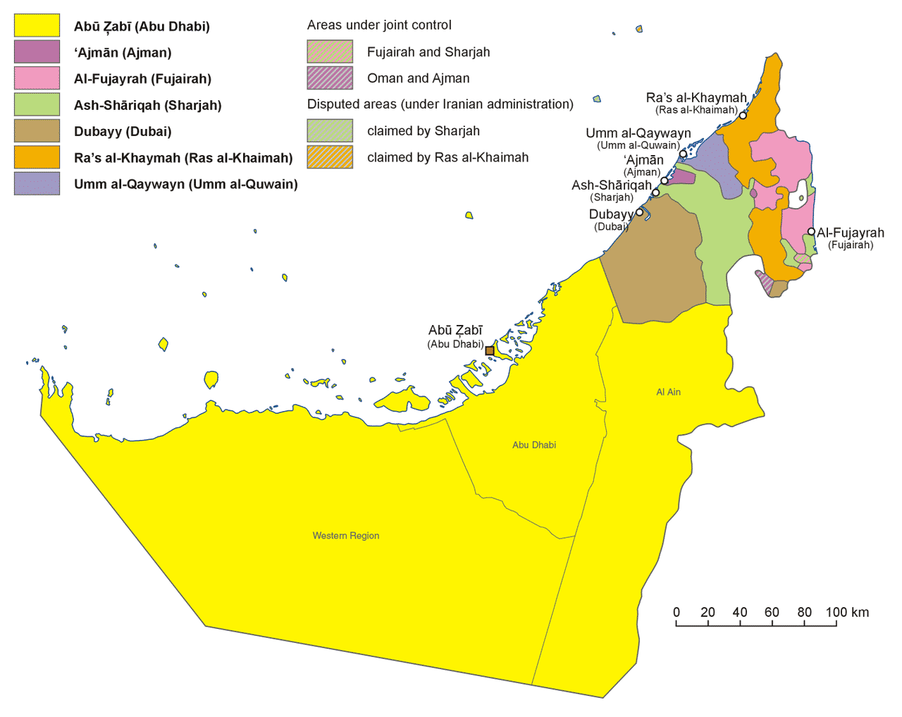 mapa dubai
