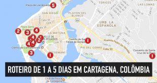 Roteiro de 2, 3, 4 ou 5 dias em Cartagena