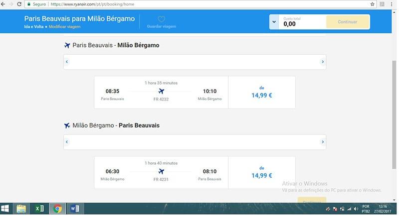 Como comprar passagem na Ryanair