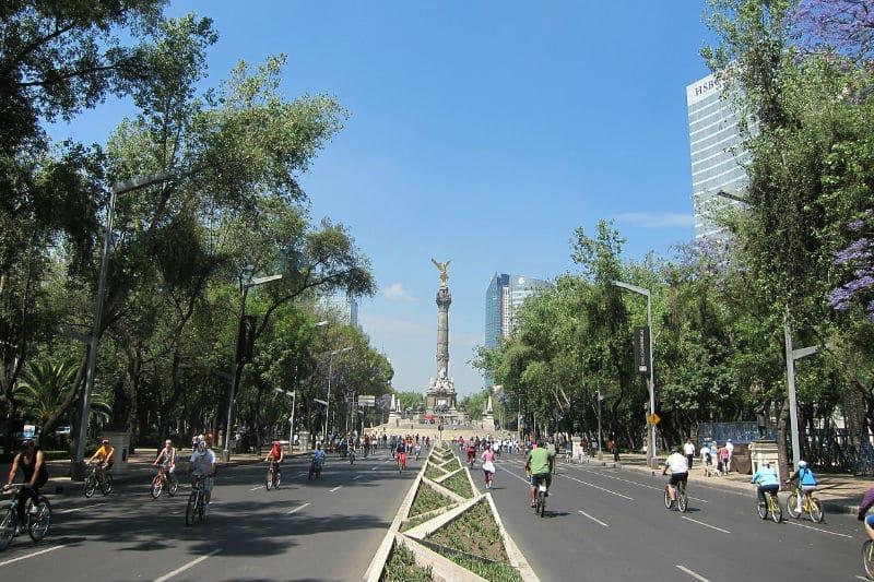 Tráfico de bicicletas na Cidade do México