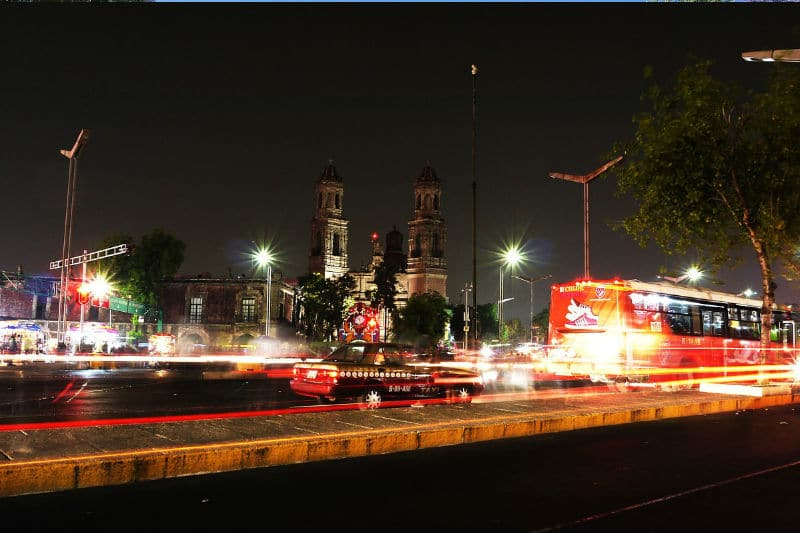 Ônibus na Cidade do México