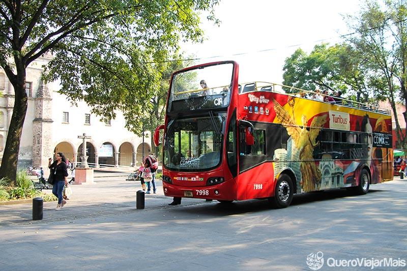 Ônibus panorâmico na Cidade do México