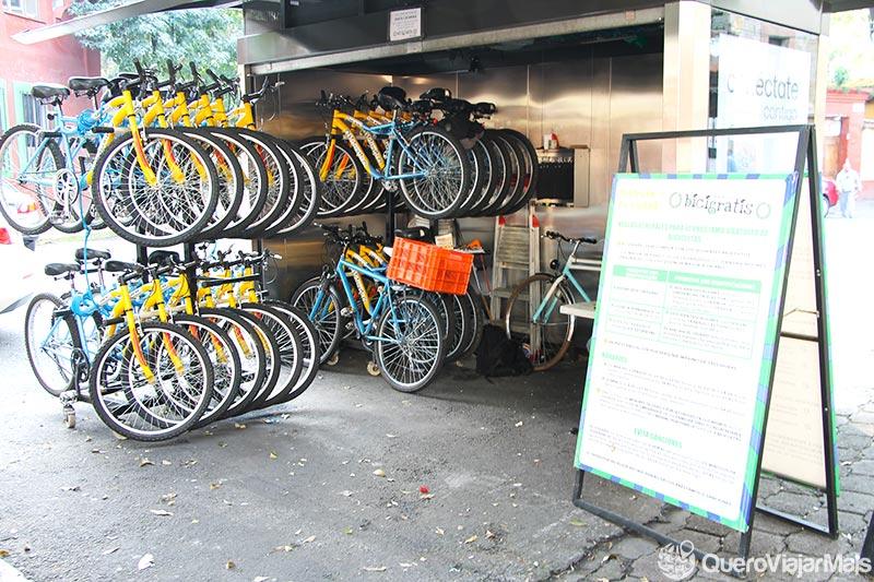 Bicicleta na Cidade do México
