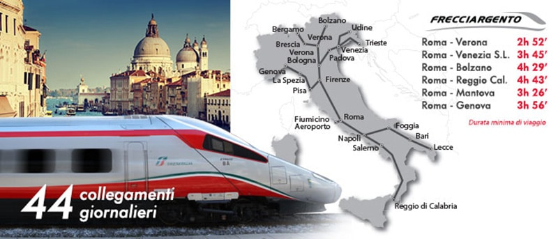 Trem de Roma para Florença