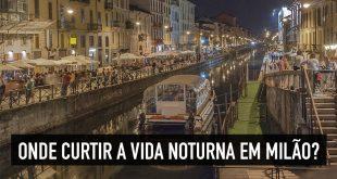 Vida noturna em Milão, Itália
