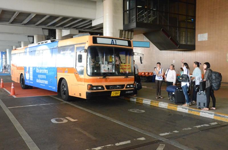Quais ônibus pegar no aeroporto de Bangkok