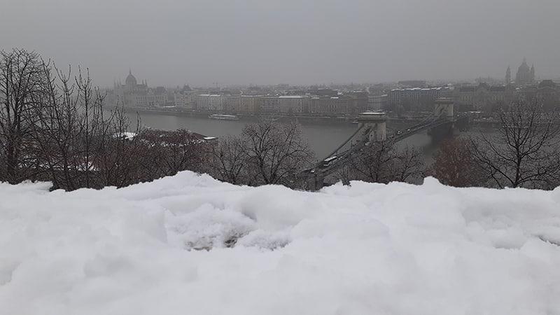 pontos turísticos de Budapeste no inverno