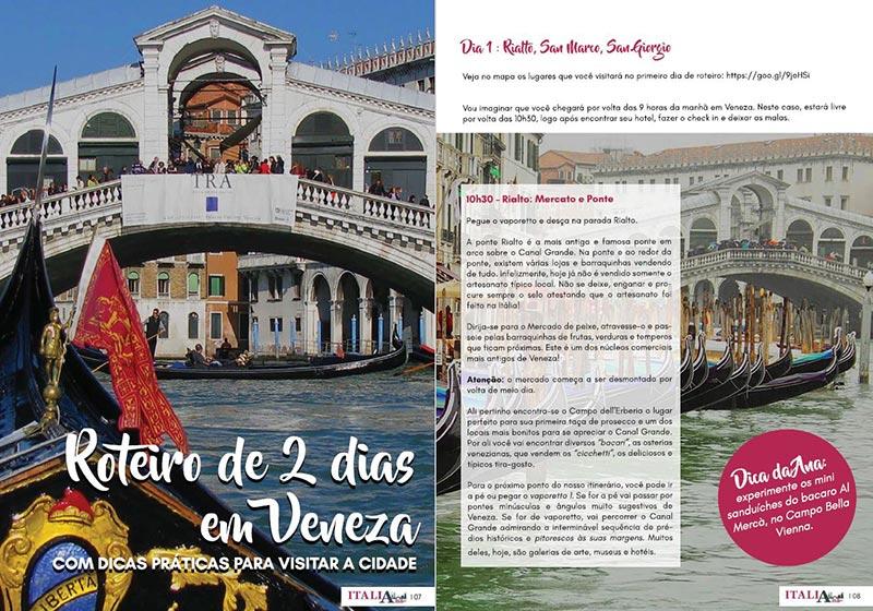 Roteiro de dois dias em Veneza, na Itália