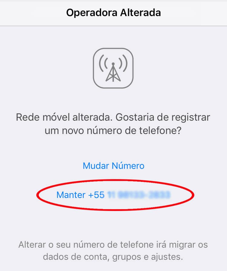 WhatsApp no exterior