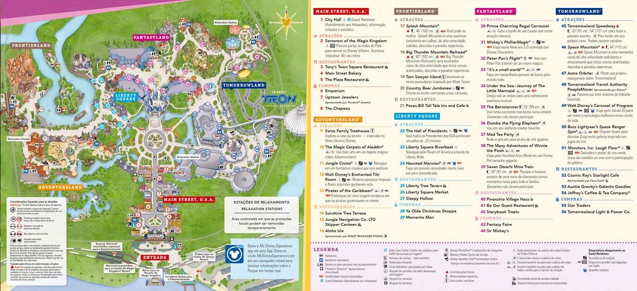 mapa parques disney