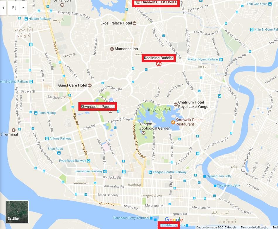 Onde é melhor se hospedar em Yangon