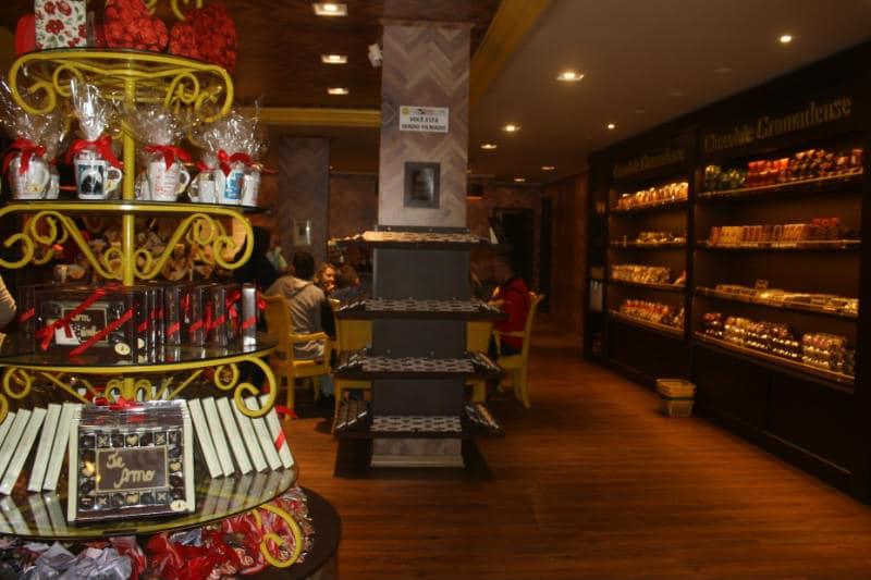 Loja de chocolate em Gramado