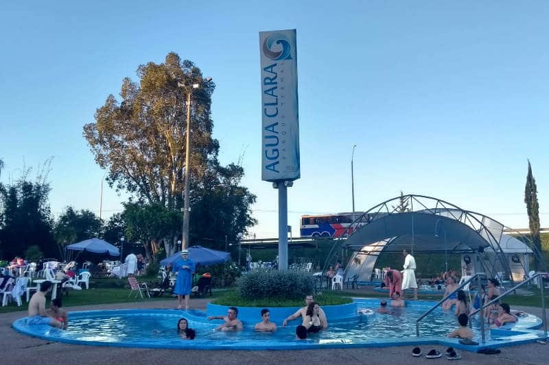 Parque de águas termais no Uruguai