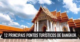 Mapa dos 12 principais pontos turísticos de Bangkok