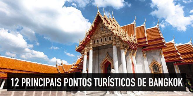 Mapa dos principais pontos turísticos de Bangkok
