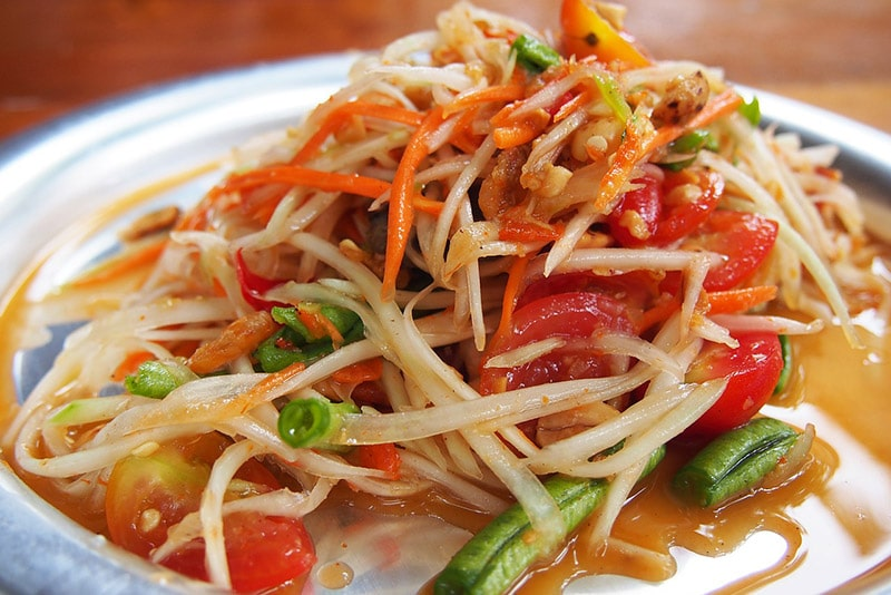 Salada de papaia da Tailândia