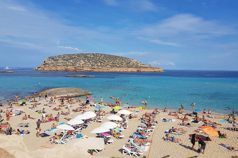 Temperatura em Ibiza no verão